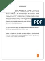 Informe acerca de La Reserva Nacional de Calipuy - Perú