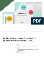 El proceso administrativo y el ambiente agropecuario