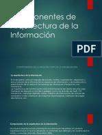Componentes de Arquitectura de La Información