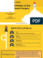 INCIDENCE AND PATTERN OF DRY EYE AFTER CATARACT SURGERY