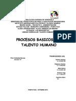Procesos Basicos Del Talento Humano