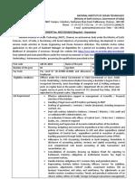 Deputation Detailed Advt 26.1.19