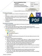 ACTIVIDAD N°3-2 Configuración y Ajuste de SPAN Transmisor de Temperaura