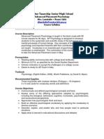 AP Psychology Syllabus and Summer Project