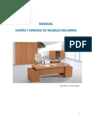 Manual De Melamine Pdf Tornillo Madera