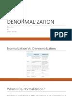 Lecture 2 Denormalization