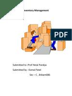 Inventory Management KOMAL