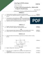 DFM Model question paper VTU
