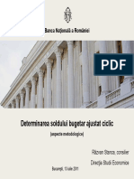 Ajustare Ciclica Deficit Bugetar