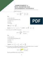 Assignment 4 - Engineering Statistics - Spring 2018