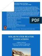 Solar Water Heater Innovations