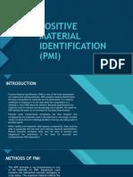 Positive Material Identification (Pmi) - Presentation