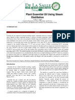 Isolation of Plant Essential Oil Using Steam Distillation Lab Report