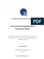 Time Study Method Implementation in Manufacturing Industry Nor Diana Hashim TS183.N67 2008 - 24 Pages