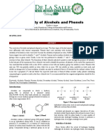 Reactivity of Alcohols and Phenols Lab Report