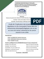 GUERRACHE A., SAMER A. et MERAKEB M. S., Treg et cancer colorectal, 2016.pdf