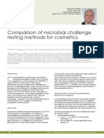 Comparison of Microbial Challenge Testing Methods for Cosmetics