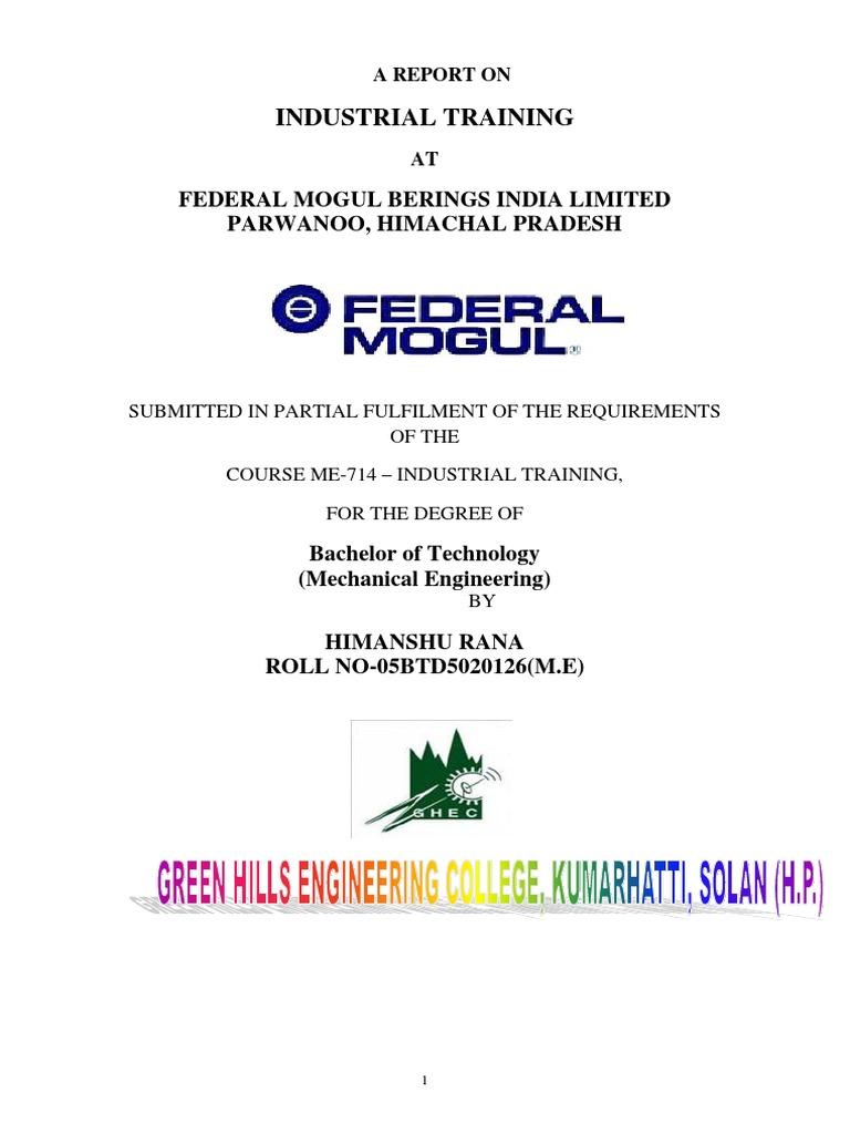 FEDERAL MOGUL GROUP (1).docx   Sintering   Bearing (Mechanical) on
