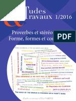Proverbes Et Stéréotypes
