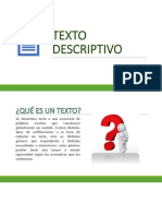 DIAPOSITIVAS TEXTO DESCRIPTIVO
