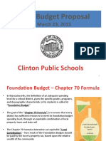 Proposed FY16 Budget Powerpoint Presentation
