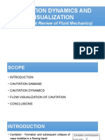 Cavitation Dynamics and Visualization