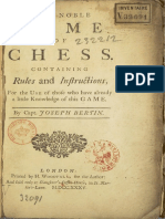 The Noble Game of Chess by capt. Joseph Bertin