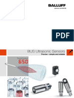 BUS Ultrasonic Sensors Precise – Simple and Reliable 1210