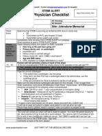 Physic an Checklist Sample