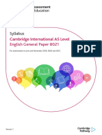 General Paper 2019 2021 Syllabus
