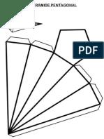 Planificação Piramide Pentagonal