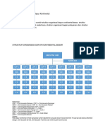 Struktur Organisasi Kontinental
