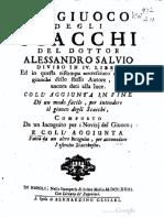Il Giuoco Degli Scacchi. Alessandro Salvio