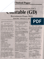 Ssc Constable Exam 2019