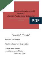 Prestiti Lessicali Turcismi Balcanici
