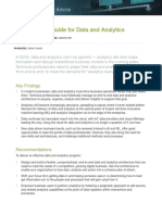 Gartner Catalyst Conference Us Research Note Data Analytics Planning Guide 2018