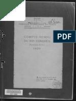 Compte-Rendu du XVIe congrès, Buenos Aires 1939. FIDE