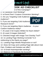 Facebook Ad Checklist by Deepak