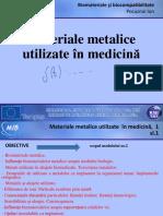 Biocompatibilitate si biomateriale