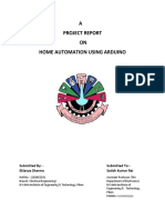 A Project Report on Home Automation Using Arduino