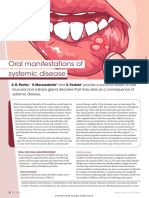 systemic disorder manifestion.