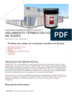 Aislamiento térmico en contenedor de acero - ThCoat®