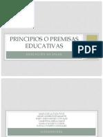 Principios o Premisas Educativas