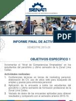 Informe Final de Actividades 2015-20 Académicos