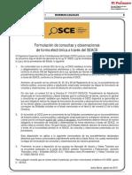Comunicado 001-2018-Osce Formulacion Consultas Observaciones Forma Electronica Seace