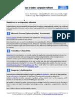 10 Ways Detect Malware