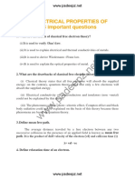 Unit i Electrical Properties of Materials Important Questions