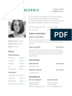 Clean Resume Cv Template (No Printable)