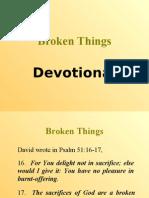 Broken Things (Devotional)