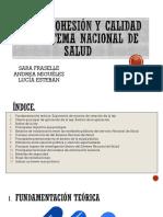 Ley de Cohesion y Calidad Del Sist. Nacional de Salud